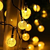 lederTEK Solar Powered Waterproof Fairy String Lights, 20ft 30 LED 2 Modes, Decorative Lamp Used for Christmas, Wedding, Xmas Tree, Party (30 LED Warm White)